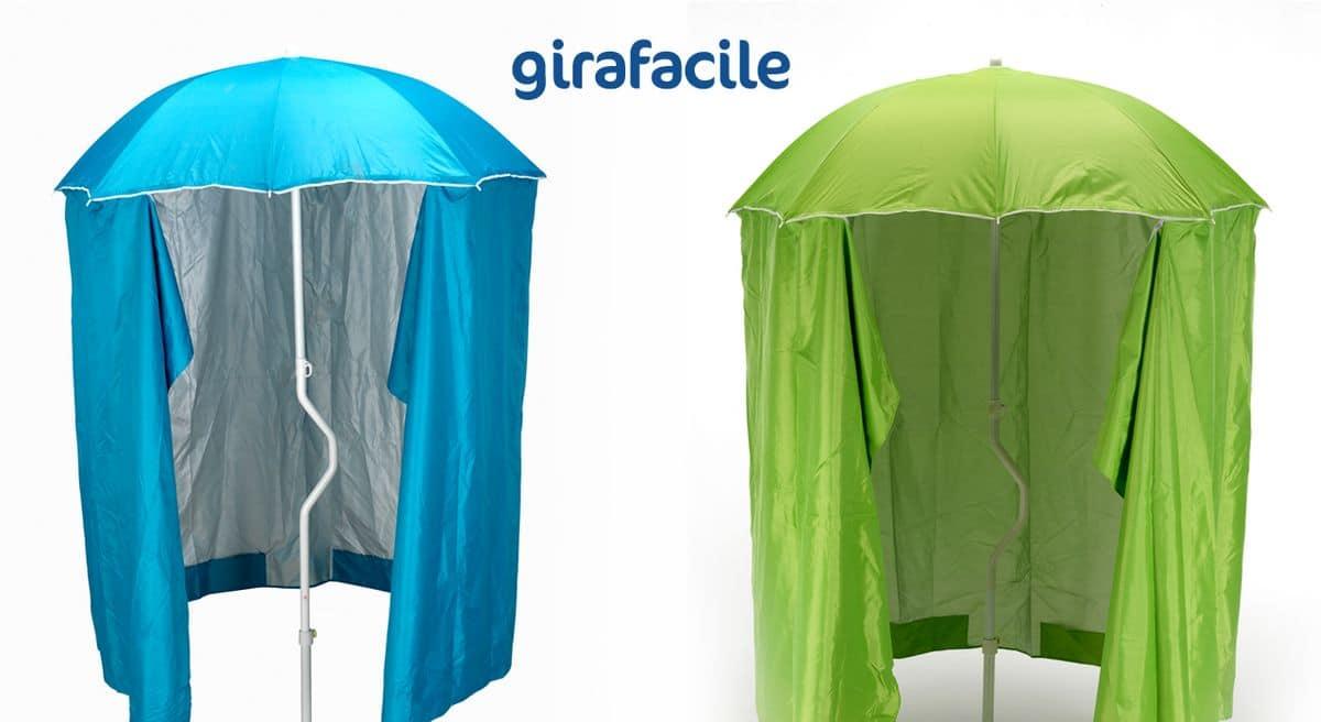 Ombrellone Da Mare Con Tenda.Ombrellone Con Tenda Protezione Raggi Uv Adatto Per La Spiaggie