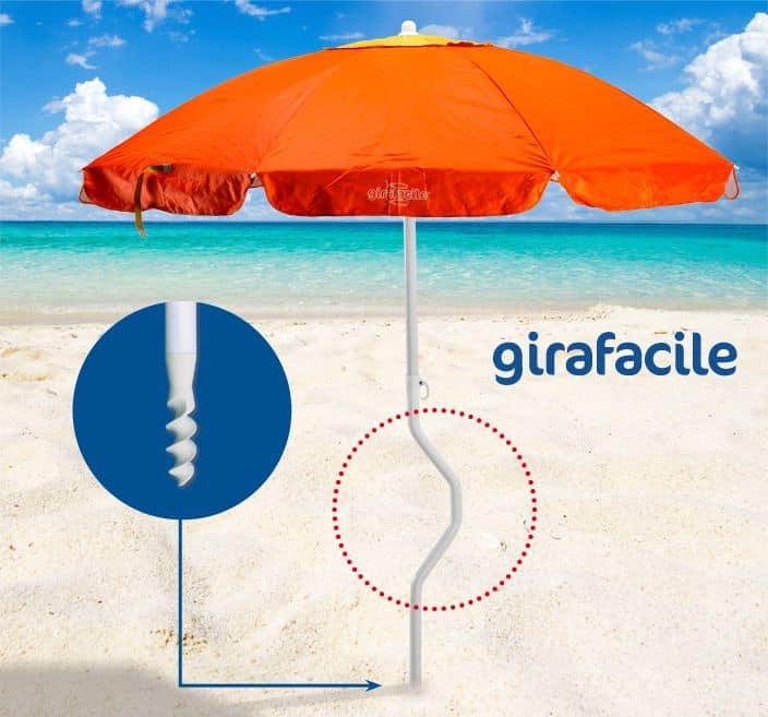 Ombrellone da spiaggia di facile fissaggio idfdesign for 3 piani di design da spiaggia