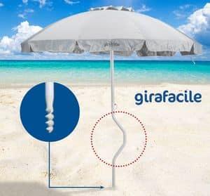 Ombrellone spiaggia brevettato Girafacile � GF220UVA, Ombrellone con 2,20 m di diametro adatto per la spiaggia