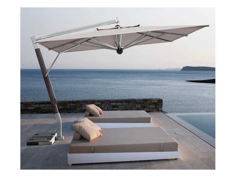 Ombrellone con braccio laterale, per terrazza | IDFdesign