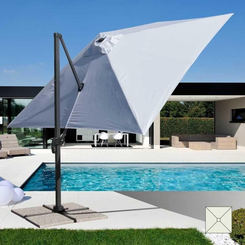 Ombrellone alluminio giardino professionale – PA303UFR, Ombrellone con braccio,  per piscine e ristoranti all'aperto