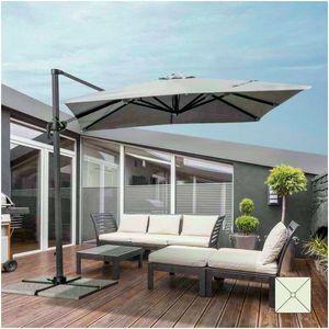Ombrellone giardino 2,5 metri quadrato braccio alluminio bar hotel PARADISE - PA250UVA, Ombrellone quadrato con braccio laterale