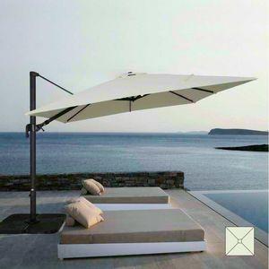 Ombrellone giardino 3x3 braccio alluminio quadrato bar hotel VIENNA - VI303POL, Ombrellone quadrato regolabile con braccio