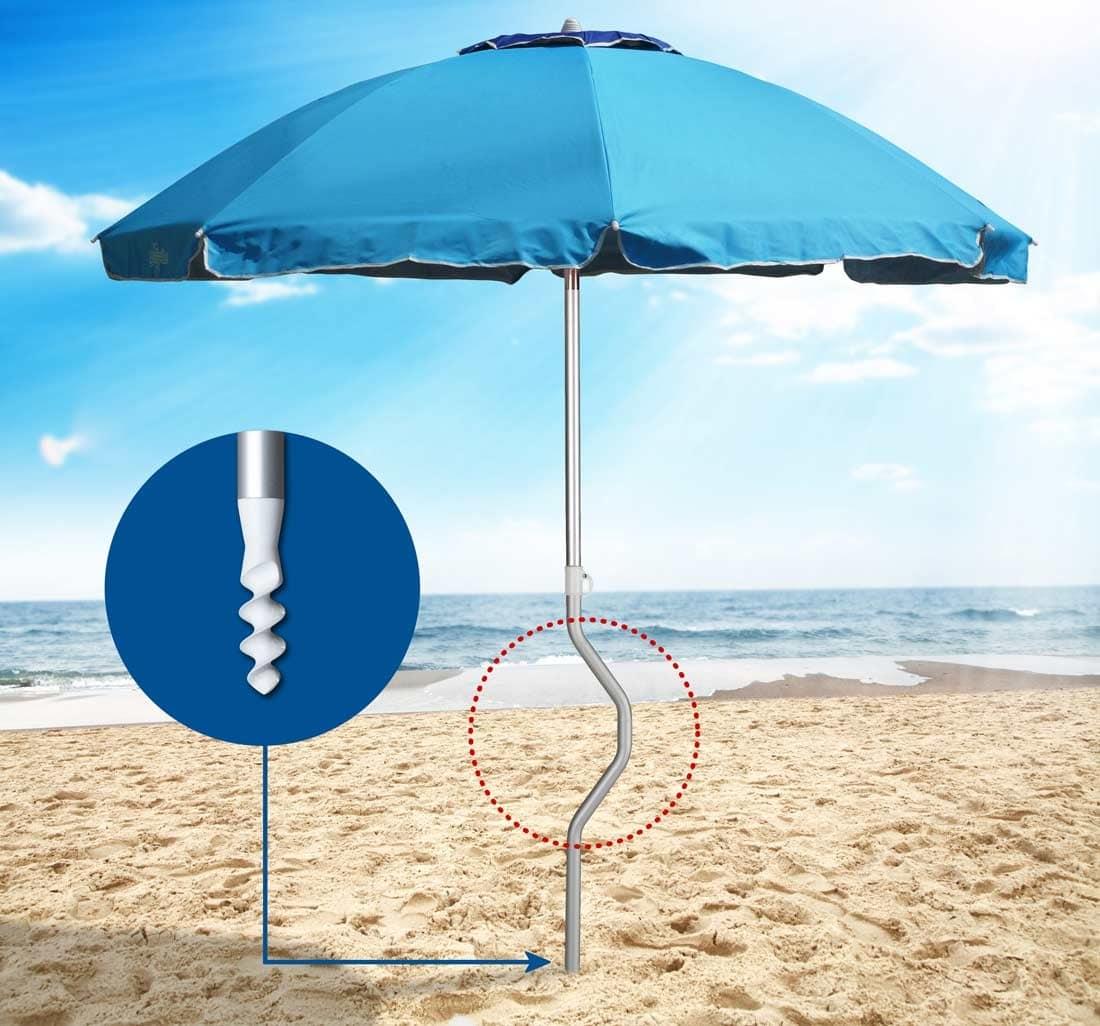 Ombrelloni Da Giardino Resistenti Al Vento.Ombrellone In Alluminio Resistente Al Vento Per Spiagge