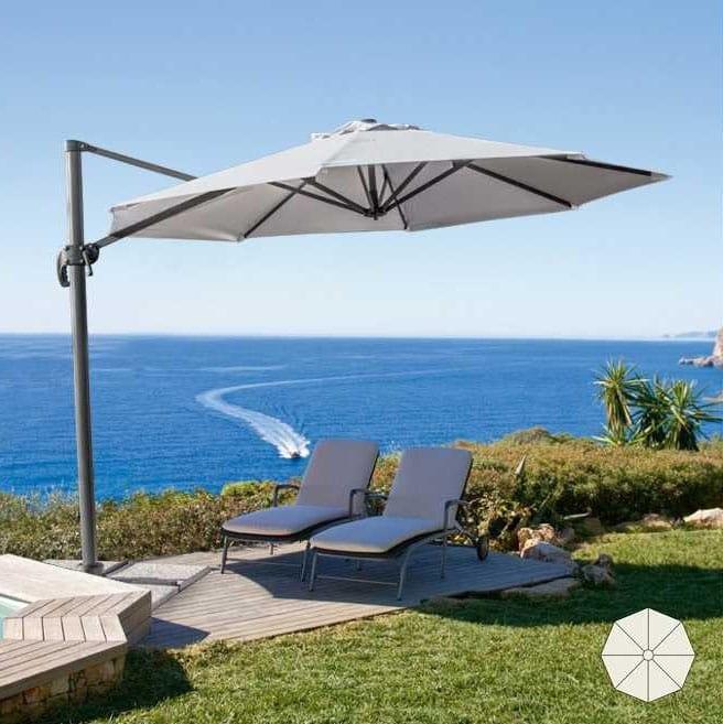 Ombrellone giardino professionale Paradise – PA300UVA, Ombrellone da giardino con palo portante decentrato
