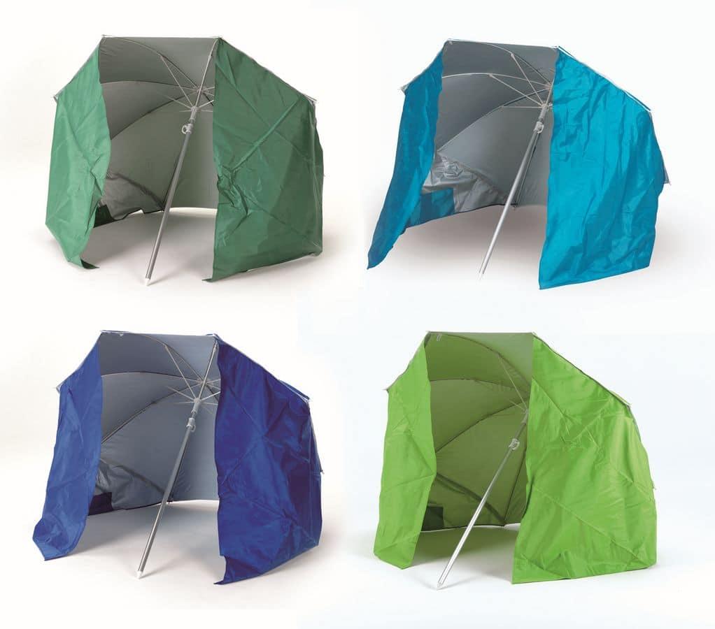 Ombrellone Da Mare Con Tenda.Ombrellone Da Spiaggia Con Tenda Protezione Uva E Uvb Idfdesign