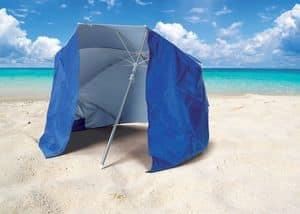 Ombrellone mare spiaggia Piuma – PI160UVA, Ombrellone da spiaggia con tenda protezione UVA e UVB