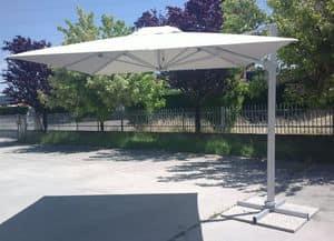 Ombrellone bar giardino con braccio Saturno � SA300UVA, Ombrellone moderno con braccio decentrato, per esterni