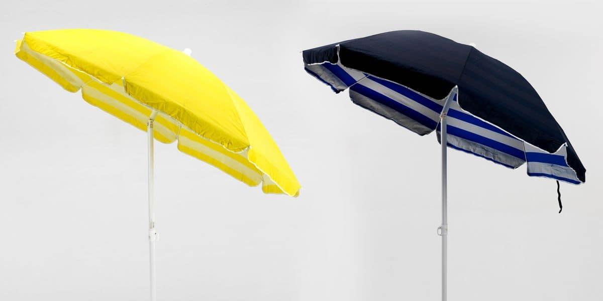 Ombrellone cotone doppio spiaggia mare – TR200COT, Ombrellone di qualità in tessuto adatto per la spiaggia