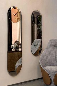 TIMELESS, Specchi con orologio specchiante