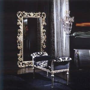 701 PANCHINA, Panchina imbottita con rulli, stile classico di lusso