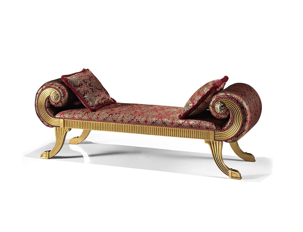 Sedute panche classiche ed in stile in stile e classiche for Panche imbottite