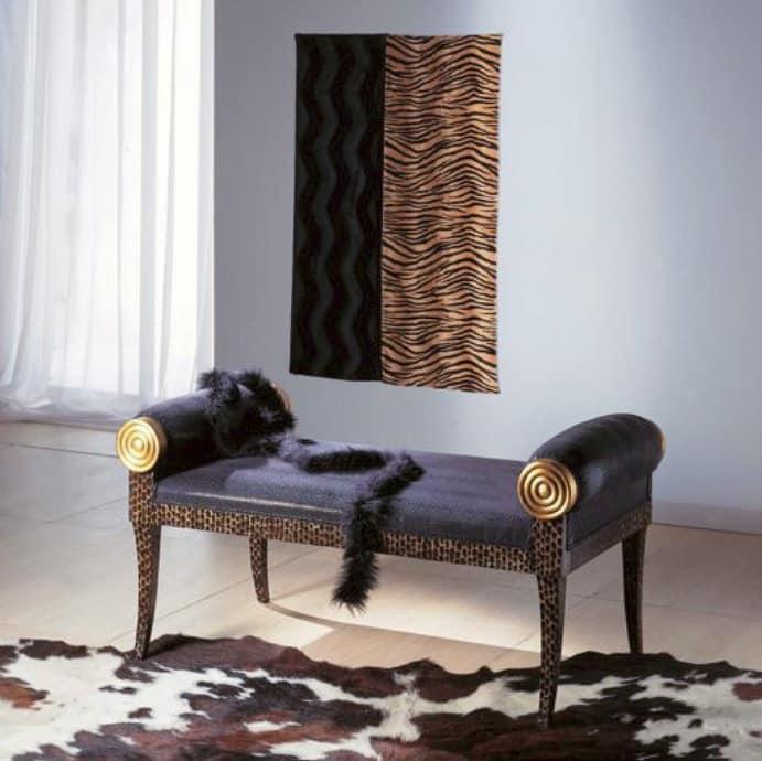 Panchetta classica in legno personalizzabile nelle finiture idfdesign - Panca camera da letto ...