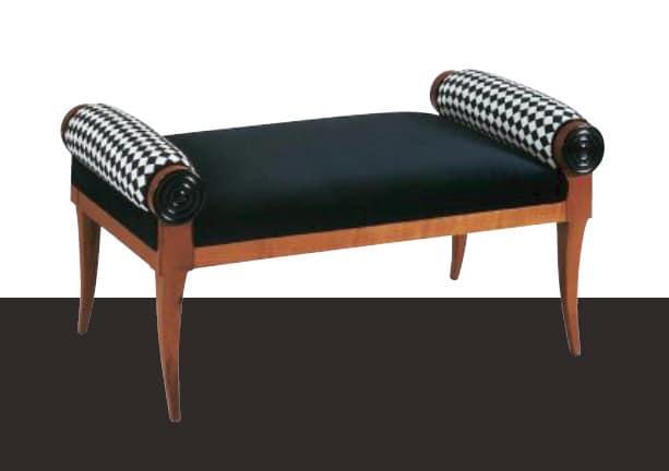 Panchetta classica in legno personalizzabile nelle for Panche imbottite