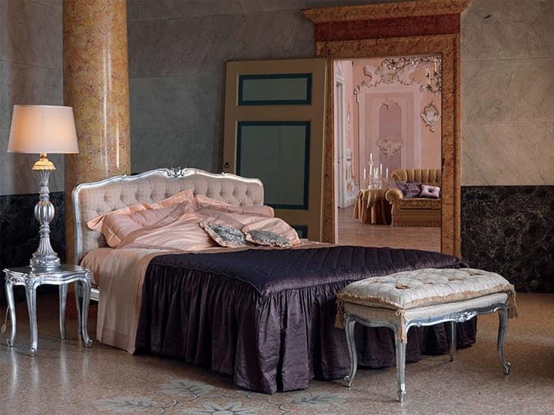 Panca imbottita classica di lusso capitonn per hotel for Panche imbottite