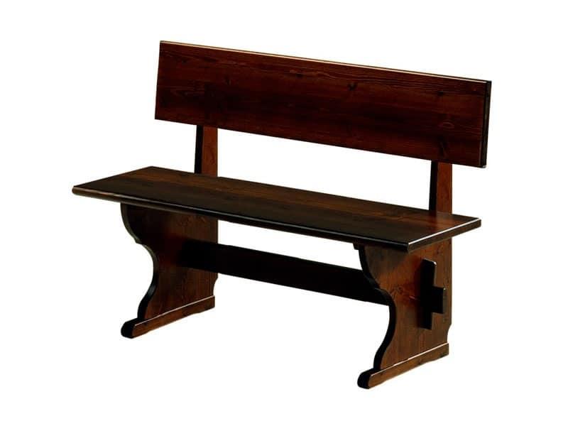 Panca in legno stile rustico per pizzerie e ristoranti - Panche in legno per cucina ...