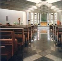 Ecclesia, Panca moderna in legno massiccio per chiese