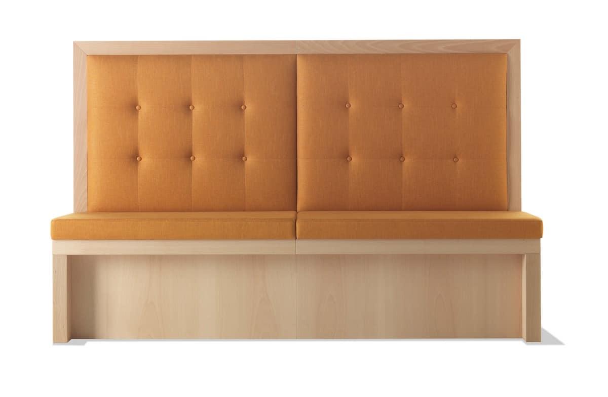 Panca A Parete Imbottita Per Bar E Ristoranti IDFdesign #884C2B 1200 785 Ikea Panche Ad Angolo