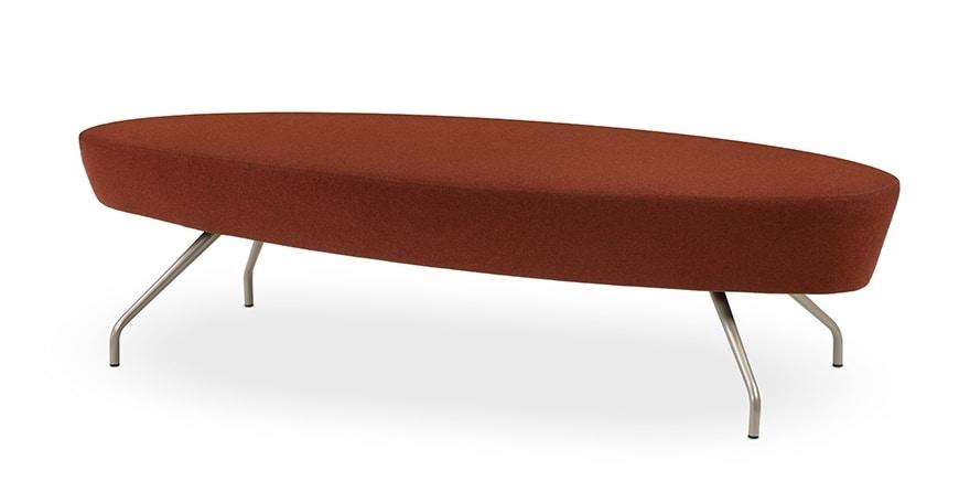ELIPSE 2P, Panca moderna con seduta circolare, per reception