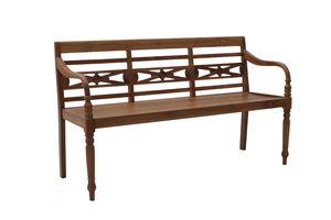 Giava 0244, Panca in legno da giardino