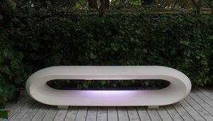 Loop Light, Panca da giardino con illuminazione a LED