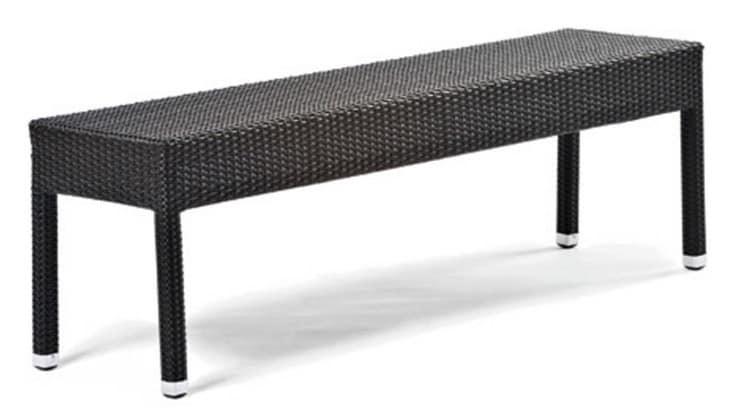 Panca in alluminio e plastica intrecciata per esterni - Tavoli in alluminio per esterni ...