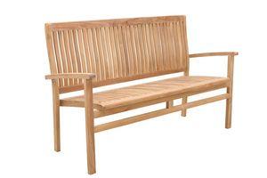 Savana 0209, Panca da giardino in legno, impilabile