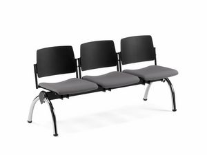 TEOREMA, Panca con sedile imbottito, per sale attesa