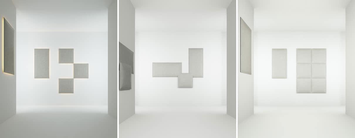Pannello modulare fonoassorbente realizzato in fibra - Pannelli decorativi fonoassorbenti ...