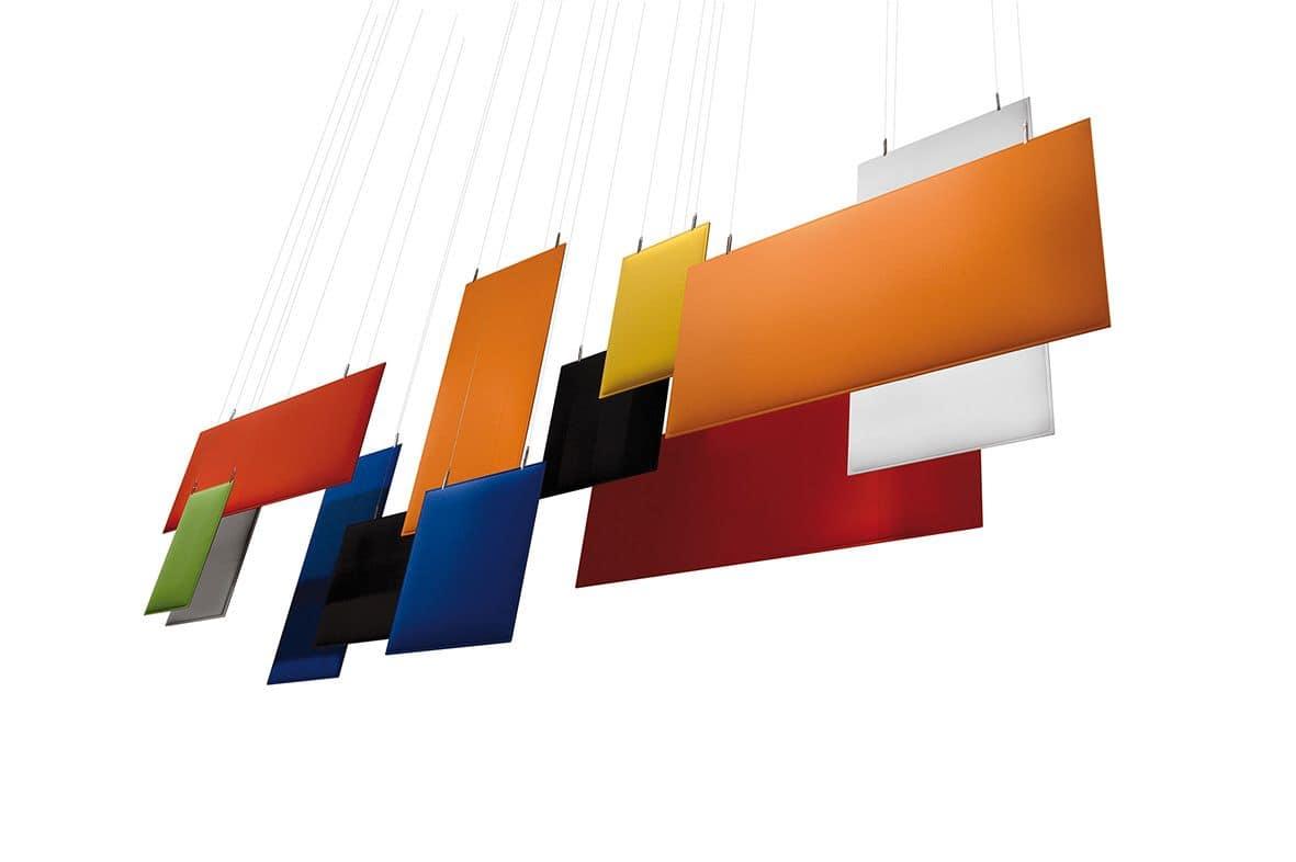 Baffle, Pannelli fonoassorbenti per soffitto
