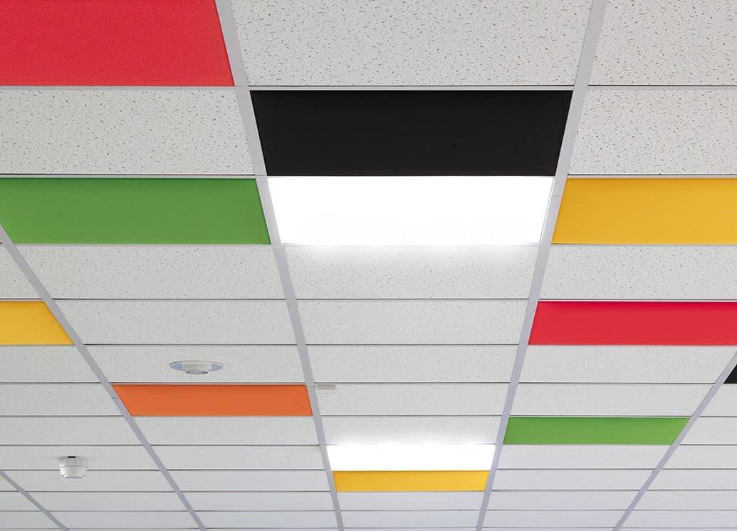 Pannelli fonoassorbenti colorati per controsoffitti for Fonoassorbenti pannelli