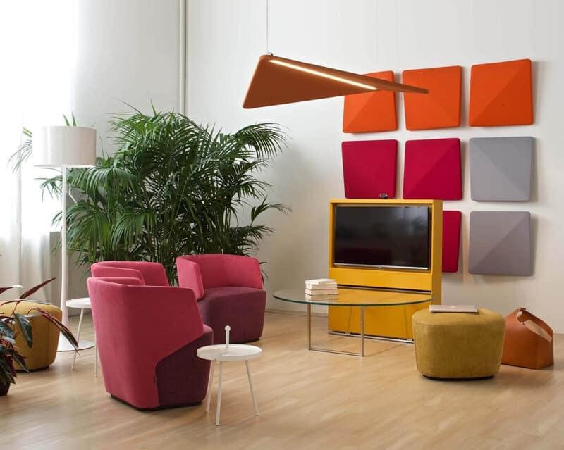Illuminazione Ufficio Open Space : Pannelli fonoassorbenti per uffici open space e sale riunioni