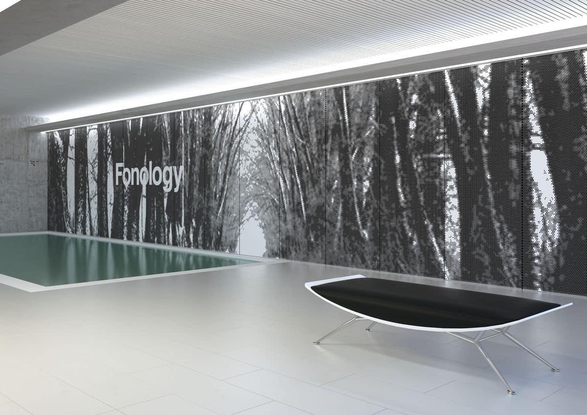 Pannelli di lamiera con fori tridimensionali idfdesign - Pannelli fonoassorbenti decorativi ...