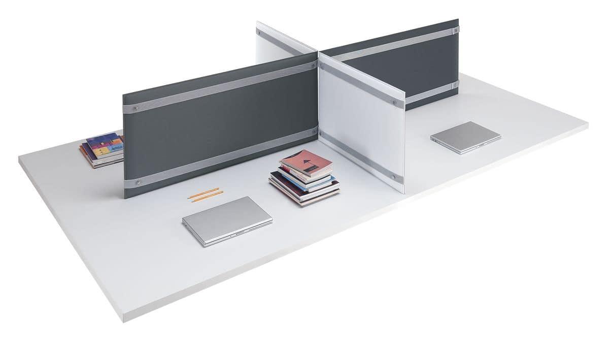 Divisori da appoggio per scrivania, per migliore comfort acustico ...