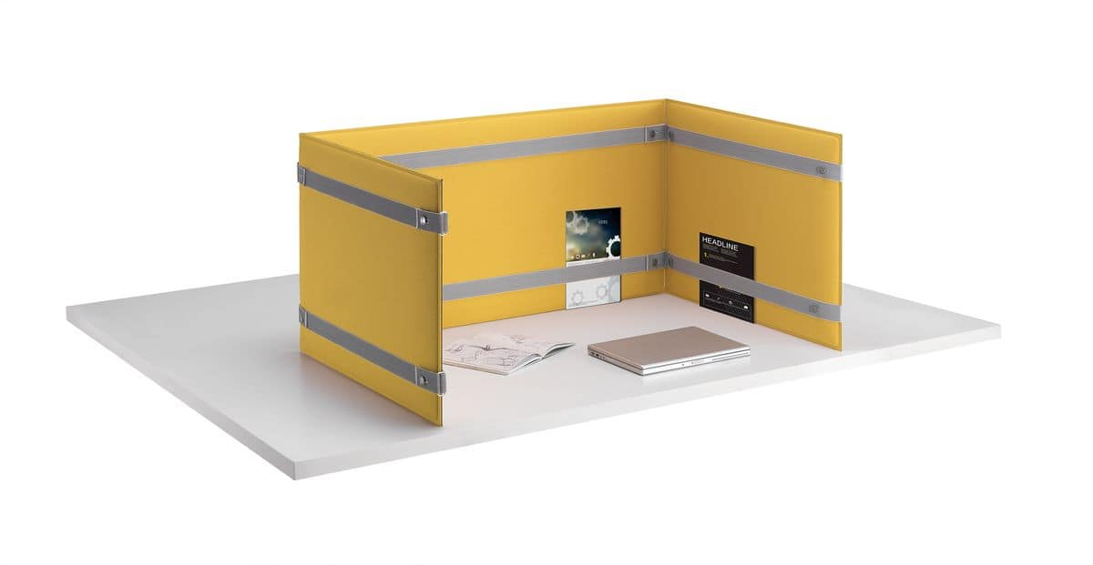 Divisori da appoggio per scrivania per migliore comfort acustico