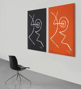 Snowsound art - Gillo Dorfles, Pannelli fonoassorbenti decorati con disegni di Gillo Dorfles