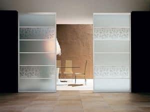 ARES parete divisoria, Pannelli divisori fissi, in vetro stratificato o temperato