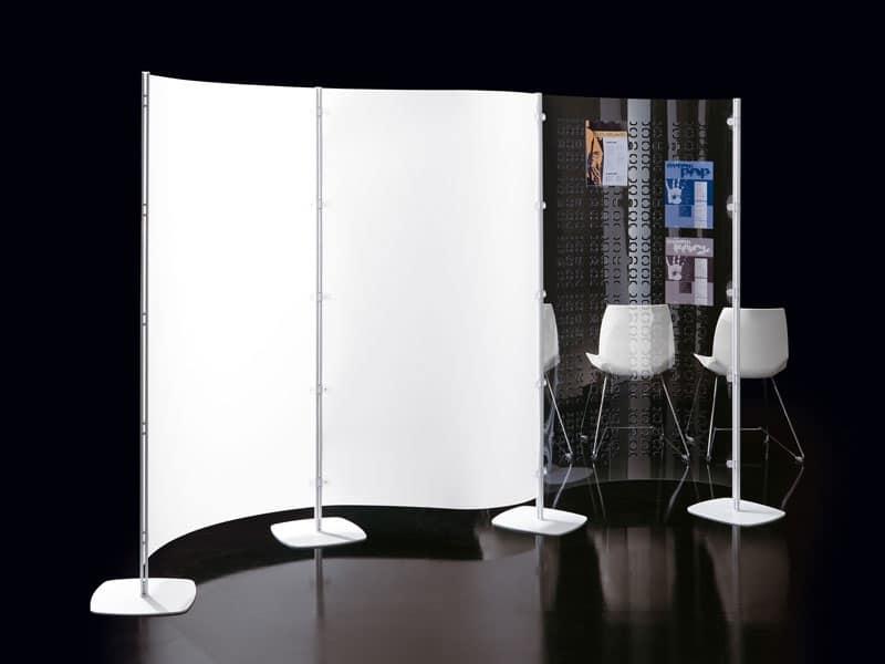 Divisorio Decorativo Ufficio Geko Caimi Brevetti : Parete multiuso in policarbonato per biblioteche idfdesign