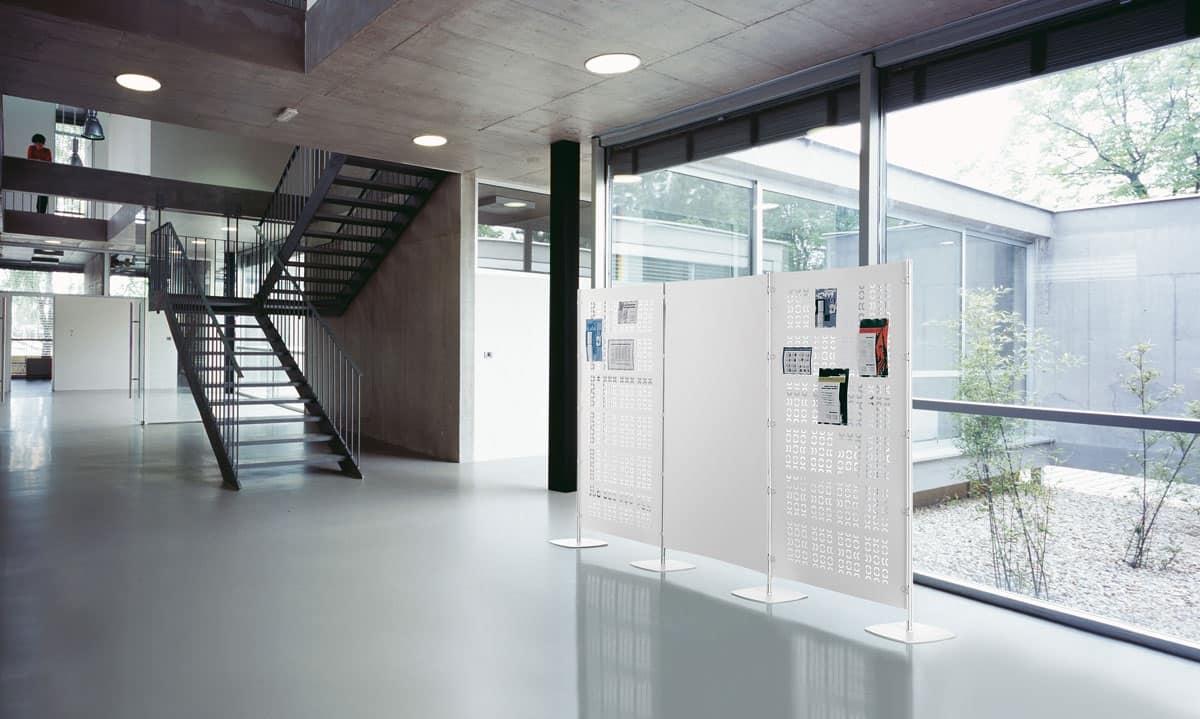 Pannelli divisori attrezzabili modulari per uffici for Divisori mobili per ufficio