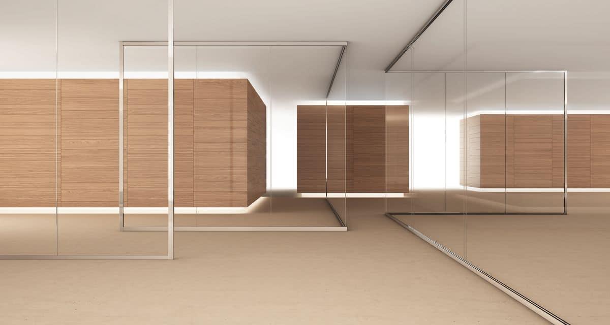 Dv603 pareti divisorie interne in vetro adatte per uffici for Design pareti interne
