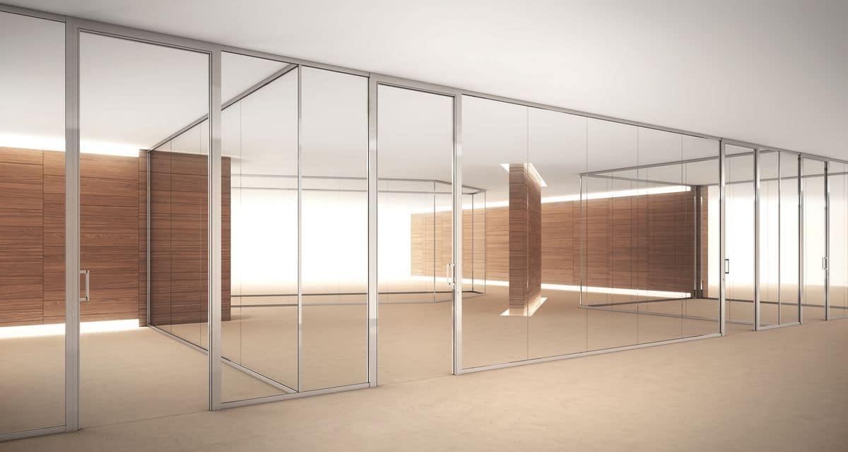 Dv603 pareti divisorie interne in vetro adatte per uffici - Parete divisoria mobile ...