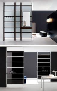 LOGOS parete divisoria, Parete divisoria con pannelli fissi, in alluminio e vetro