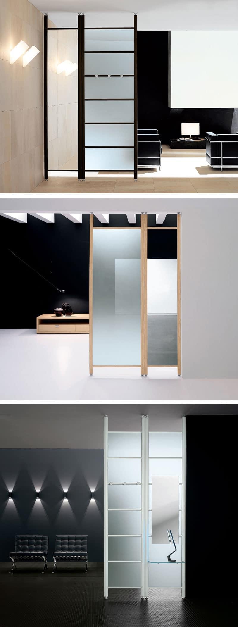 Parete divisoria con pannelli fissi per casa e ufficio idfdesign - Pannelli parete cucina ...