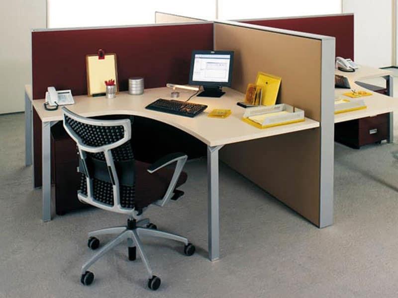 Pannelli divisori per postazioni ufficio idfdesign for Dau srl design arredo ufficio
