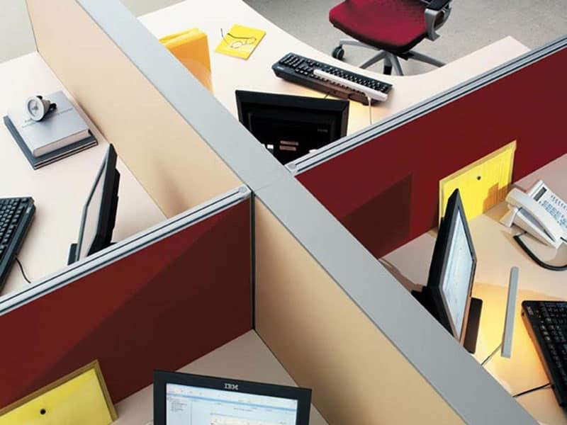 Pannelli divisori per postazioni ufficio idfdesign - Pannelli divisori design ...