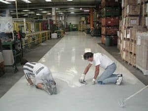 Pavimenti in resina industriali 2, Pavimento con posa rapida, facile da pulire, per magazzini
