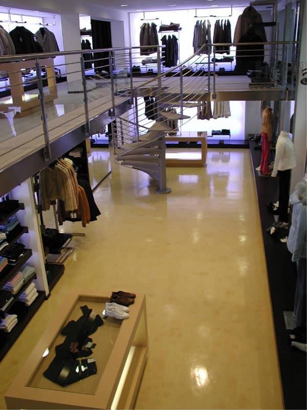 Pavimenti in resina per negozi, Pavimentazione elegante in resina, per centri commerciali