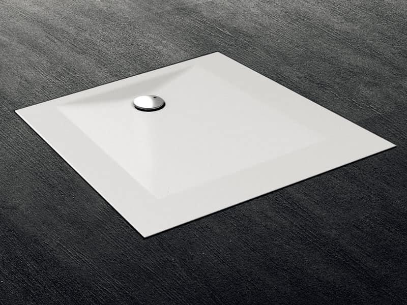 Piatto doccia per installazioni a filo pavimento idfdesign - Piatto doccia pavimento ...