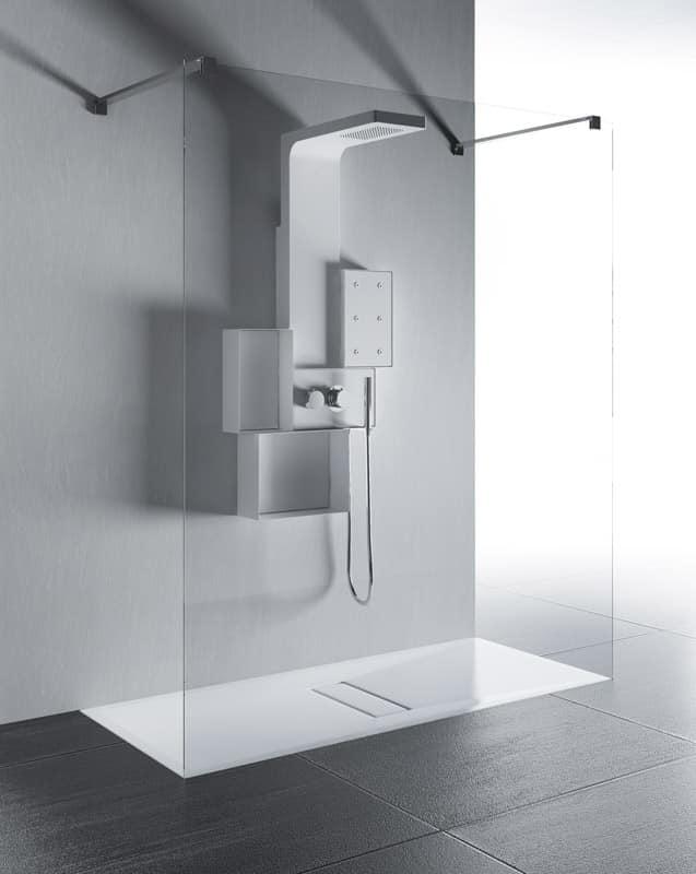 Piatto doccia lungoparete palestra idfdesign - Piatto doccia 140x90 ...