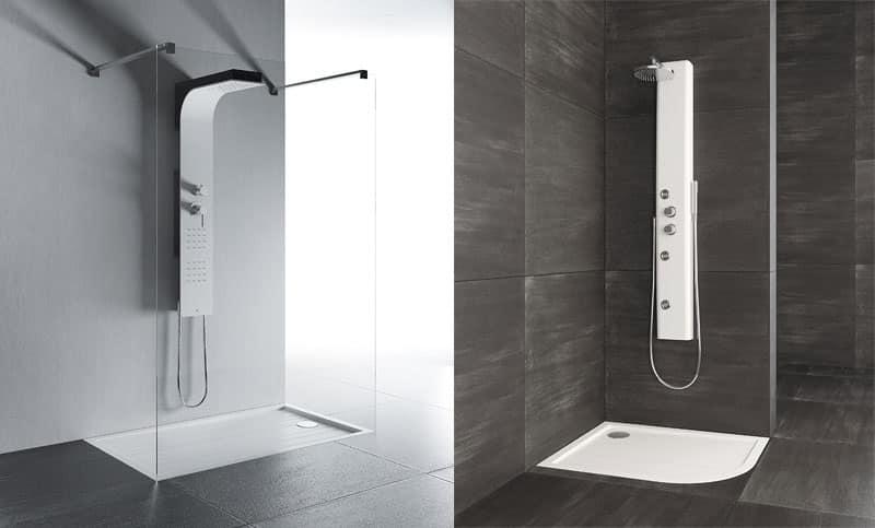 Piatto doccia minimale in pietra naturale idfdesign - Box doccia design minimale ...